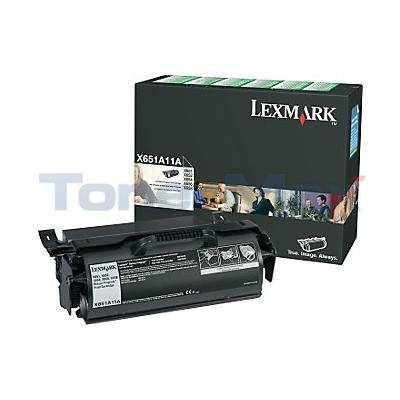 LEXMARK X651DE RP PRINT CARTRIDGE BLACK 7K